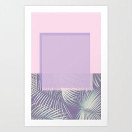 PASTEL & LEAF Art Print