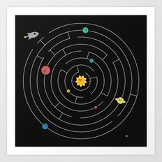 Planetary Maze Art Print