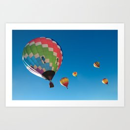 Balloons on Blue Art Print
