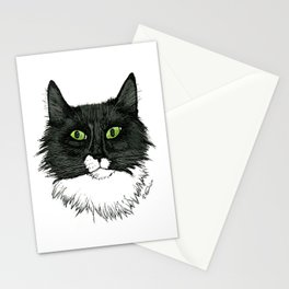 Curly Sue the Tuxedo Cat Stationery Cards