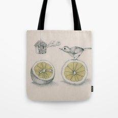 Lemon bird Tote Bag
