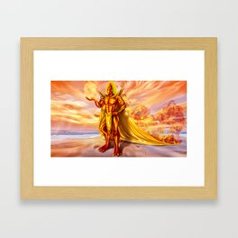 Dwain God of fire Framed Art Print