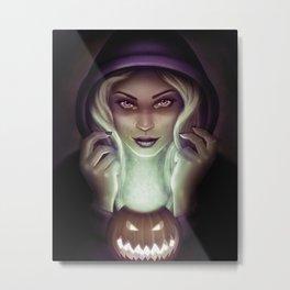 Halloween Hex Metal Print
