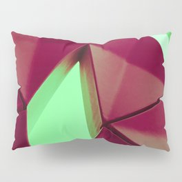 Dark Red & Kryptonite by Brian Vegas Pillow Sham