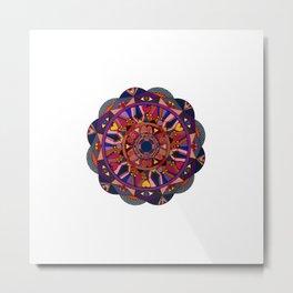 Watch Over My Heart Mandala Metal Print