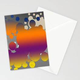 Orange paint splats Stationery Cards