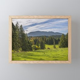 Alpine Landscape Framed Mini Art Print