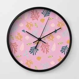 Pink Sea Wall Clock