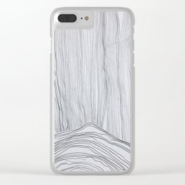 Mountain in Storm Clear iPhone Case