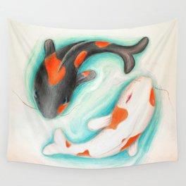 Coy Fish (Yin & Yang) Wall Tapestry