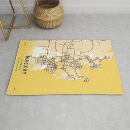 Mackay Yellow City Map Rug