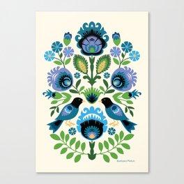 Polish Folk Birds Canvas Print