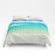 Blue Turquoise Tropical Sandy Beach Comforters