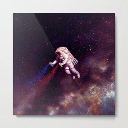 """Shooting Stars"" - Astronaut Artist Metal Print"