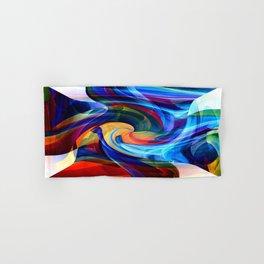 This Kiss Digital Abstract Art By Annie Zeno Hand & Bath Towel