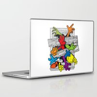 cartoons Laptop & iPad Skins featuring Cartoons Attack by luis pippi