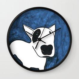 Blue Dog Wall Clock