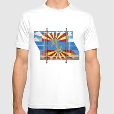 Altered State: AZ MEDIUM White Mens Fitted Tee