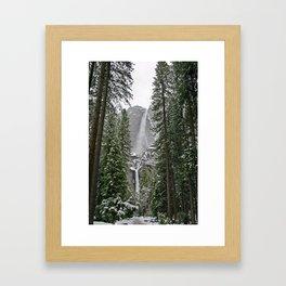 Yosemite Winter Falls Framed Art Print
