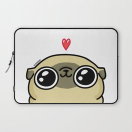 Mochi the pug loves you Laptop Sleeve