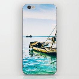 Dhow Sail Boats Zanzibar Tanzania 3735 iPhone Skin