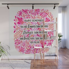 Always Remember – Pink Ombré Palette Wall Mural