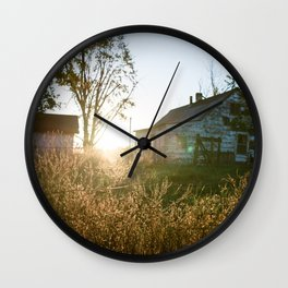 Sunrise on the Farm Wall Clock