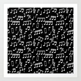 Musical Notes Pattern Art Print
