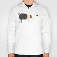 Hoodies featuring Oink by Nic Squirrell