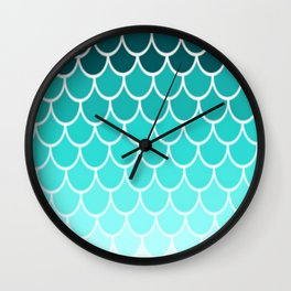 Ombre Fish Scale Pattern Wall Clock