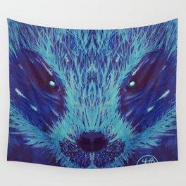 Blue Honey Badger Wall Tapestry