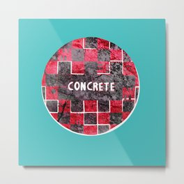 Concrete Ball Metal Print