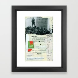In enemy hands Framed Art Print