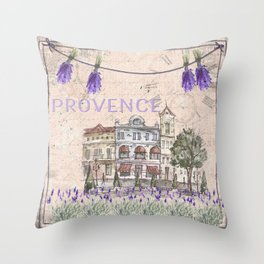 Provence France - my love  - Lavender and Summer Throw Pillow
