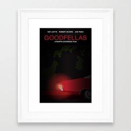 Goodfellas tribute poster Framed Art Print
