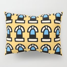New York Windows Pattern 261 Yellow and Blue Pillow Sham