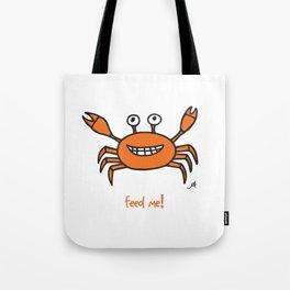 Mr and Mrs Crabby Amanya Design White Single FEED ME! Tote Bag