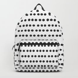 Dots Stripes White Backpack