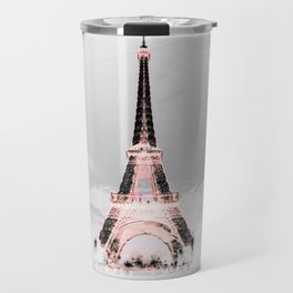 pariS Black & White + Pink Travel Mug