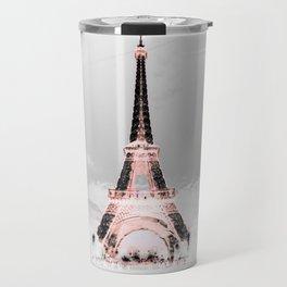 pariS Black & White + Pink copyright 2sweet4wordsDesigns Travel Mug