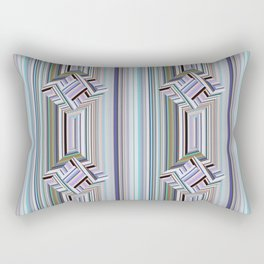 guides colored stripes Rectangular Pillow