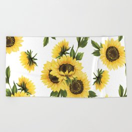 Lovely Sunflower Beach Towel