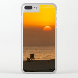 Classic SoCal Sunset Clear iPhone Case