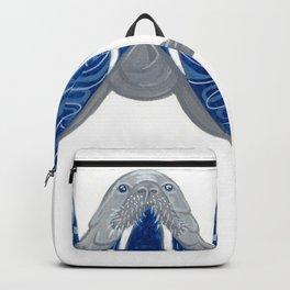 W is for Walrus Letter Alphabet Decor Design Art Pattern Backpack