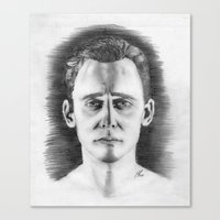 tom hiddleston Canvas Prints featuring Tom Hiddleston by LilKure