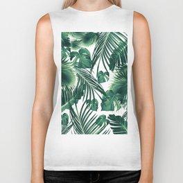 Tropical Jungle Leaves Dream #3 #tropical #decor #art #society6 Biker Tank