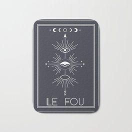Le Fou or The Fool Tarot Bath Mat