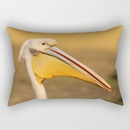 Pelican beak, yellow bird art Rectangular Pillow