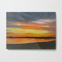 Dusk Sunset on Lake Metal Print