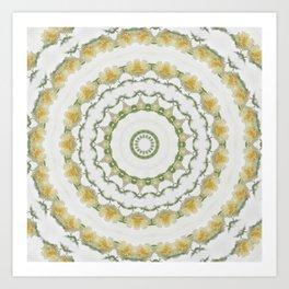 Creamy Yellow Rose Kaleidoscope Art 5 Art Print